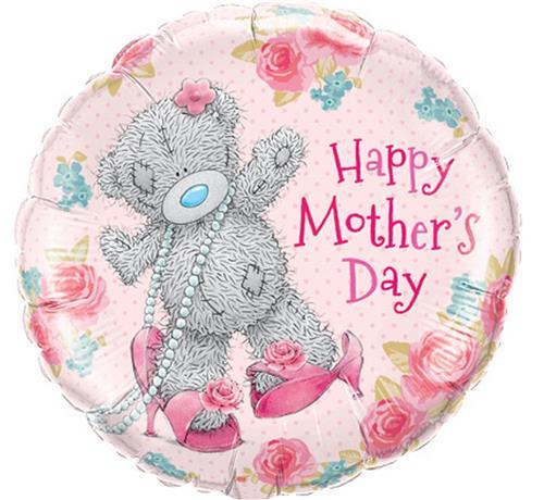 balon foliowy 18 z nadrukiem happy mothers day