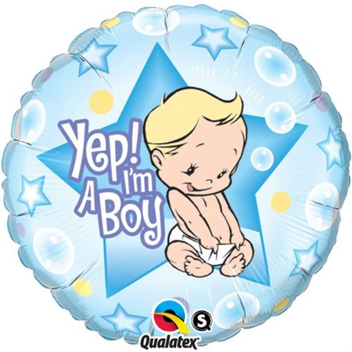 balon foliowy 18 yep im a boy